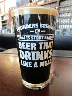 Founders Stout Season Pint Glass: Beer That Drinks Like a Meal