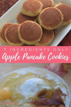 This amazing Apple Pancake Cookie recipe is a refreshing way to use applesauce in desserts! A perfect breakfast treat for your family or just a delicious and healthier snacks for the kids! Grab your mixing bowl and watch the video on how to make this simple Apple Pancake Cookies! . . . . #applepancakecookies #applepancakecookieseasy #applepancakecookiesrecipe #applepancakecookiesautumn #applepancakecookiesfall #applepancakecookiessnacks #applepancakecookiesbreakfast… Thanksgiving Desserts Easy, Great Desserts, Fall Desserts, Popular Cookie Recipe, Easy Cookie Recipes, Easy Recipes, Apple Pancake Recipe, Cookie Time, Microwave Recipes