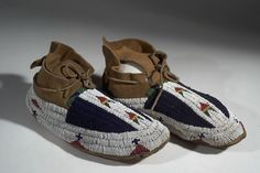 aquired by the American Museum of Natural History in Valley College, Beaded Moccasins, College Library, Body Adornment, Native American History, American Pride, Anthropology, Natural History, Idaho