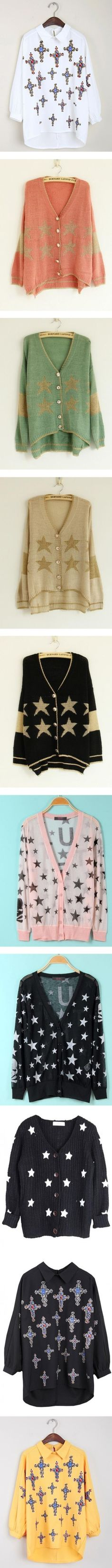 """""""Star Cardigan"""" by udobuy ❤ liked on Polyvore"""