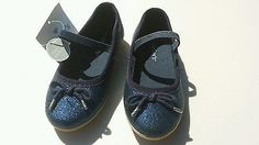 Girls shoe size 6 navy blue glitter Mary Jane's new without box spring 2016
