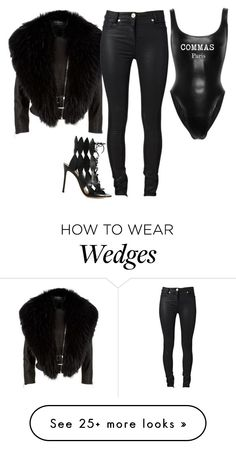 """""""Untitled #1529"""" by siedahsimmons on Polyvore featuring Harrods, Versace and Gianvito Rossi"""