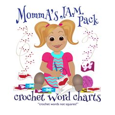 Crochet word charts web site.  Ever want to do a graphagan but don't wanna count those little squares??  Momma's has you covered!!  These a written word patterns.