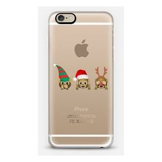 iPhone 6 Plus/6/5/5s/5c Case - Christmas monkeys ($40) ❤ liked on Polyvore featuring accessories and tech accessories