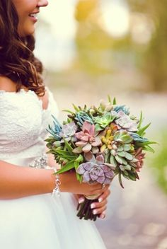 Succulent Bouquet by irenepo is a great example of the color variety in succulents