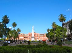 View of Plaza de Mayo from just infront of the historic Cabildo building. #buenosaires #argentina #travel #plazademayo