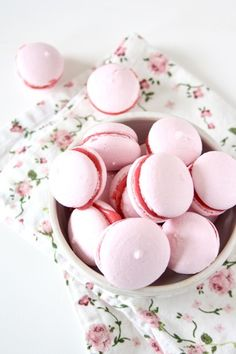 Macaroons with raspberry buttercream
