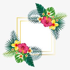 Hand painted watercolor summer floral background PNG and Vector Watercolor Wreath PNG Clipart, Watercolor Flowers…Watercolor floral wreath-Elegance / Individual PNG…Palm Leaves Watercolor Elements, hand painted… Art Floral, Floral Prints, Tropical Prints, Watercolor Background, Watercolor Flowers, Painting Flowers, Paint Background, Vector Background, Flower Frame