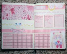 Sailor Moon bullet journal spread