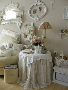 3 Super Genius Diy Ideas: Floral Shabby Chic Baby Shower shabby chic home beautiful bedrooms.Shabby Chic Home Beautiful Bedrooms. Shabby Chic Living Room, Shabby Chic Bedroom Diy, Romantic Bedroom, Chic Decor, Chic Bathrooms, Chic Bedroom, Shabby Chic Furniture, Shabby Chic Room, Chic Home Decor