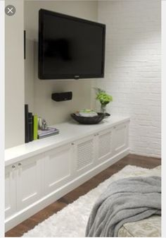 Clever And Pretty Media Storage Ideas. I Want This Over That Useless Brick  Ledge In My Living Room!