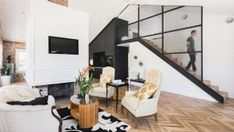 Contemporary Duplex Apartment Interior in Phoenix, Arizona A brick wall backdrop added beauty to the contrasting colors of this duplex apartment.      We have seen so many gorgeous apartment interiors and we cannot get enough of them because of how beautiful and inspiring they all are. Merely...