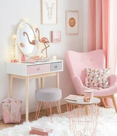 Grey Rose Gold Bedroom, Girls Pink Bedroom Ideas, Diy Home Decor Bedroom  Girl,
