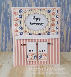 Sweet Anniversary card - #shabbychic #simplycreativepapers @trimcraft