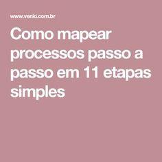 Como mapear processos passo a passo em 11 etapas simples