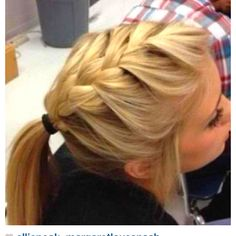 Perfect hairdo.. Easy but cute... So doing this with my uniform(: