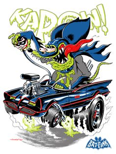 Batfink final sm/Screen print for an Ed Roth themed gallery show.