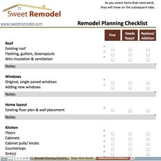 Bathroom Remodel Costs Worksheet Nick Pinterest Worksheets - Bathroom renovation checklist