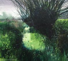 'Willow'. Mixed-media. 28x30cms www.davidparfitt-art.co.uk