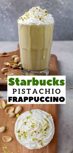 Coffee Recipes, Drink Recipes, Dessert Recipes, Pistachio Butter, Frappe Recipe, Refreshing Summer Drinks, Good Food, Yummy Food, Starbucks Frappuccino