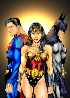 Wonder Woman, Batman & Superman