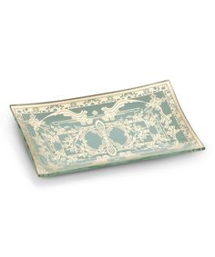 Take a look at this Blue Filigree Rectangle Plate today!