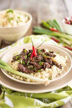 Mongolian Beef on Cauliflower Rice