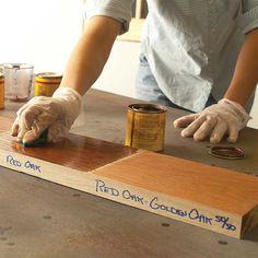 20 Wood Finishing Tips: Test Stains Thoroughly! http://www.familyhandyman.com/woodworking/staining-wood/wood-finishing-tips