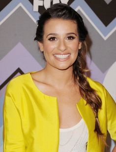 Braids: Lea Michele's undone braid/ponytail hybrid at the Fox All-Star Party is easy enough for everyday wear.