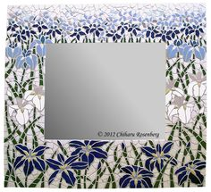 Field of Iris Mosaic Mirror