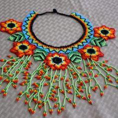 BN544-1 Bead Jewellery, Beaded Jewelry, Handmade Jewelry, Beadwork Designs, Beaded Purses, Beads And Wire, How To Make Beads, Beaded Flowers, Bead Art