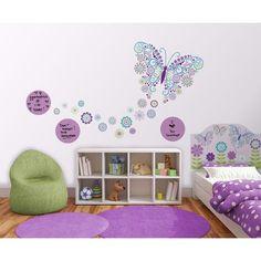 WallPops!® Social Butterfly Room Décor Kit - Purple/Blue