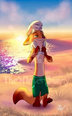 What's better than a day at the beach?  A day at the beach that ends with a bunny nuzzling your foxy forehead!