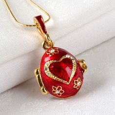 Key to my Heart Faberge Egg Pendant $98.99