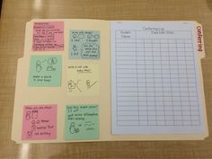 """Jenny Maehara on Twitter: """"My colleague created a cool conferring folder--such a great tool! Post-its are from the if/then curriculum. #tcrwp http://t.co/IDBZU1Wxbv"""""""