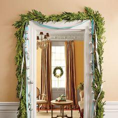 Christmas Decorating Ideas: Hang Garland Around the Doorway