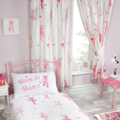 Stylish Curtains for Bedroom Details About Born to Dance Ballerina Lined Curtains Bedroom Drop Girls Pink White Girls Bedroom Curtains, Bedroom Red, Kids Bedroom, Bedroom Decor, Bedroom Ideas, Bedrooms, Color Block Curtains, Lined Curtains