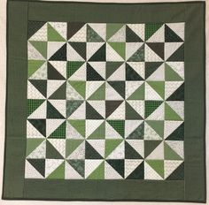 Evergreen Pinwheels Quilts by ButterflyThreadsQ on Etsy