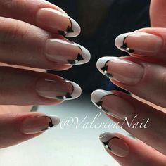 French Nail Art, French Nail Designs, French Tip Nails, Nail Art Designs, French Manicure With Design, Cute Nails, Pretty Nails, Hair And Nails, My Nails
