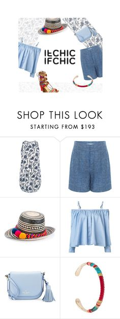 """""""Ifchic <3 <3"""" by natalynov ❤ liked on Polyvore featuring 10 Crosby Derek Lam, YOSUZI, Sandy Liang, Kate Spade, Gas Bijoux and Schutz"""