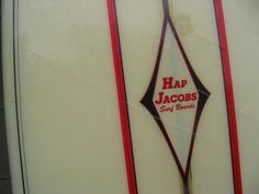 Hap Jacobs Surf Boards label