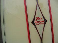 Hap Jacobs Surf Boards label