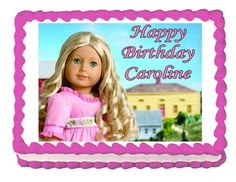 American Girl GRACE 2015 edible party cake topper decoration frosting sheet