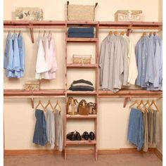 This is a great closet organization DIY project, wonderful for new construction or home remodel. Our Deluxe Ventilated Aromatic Red Cedar Closet Systems come with ventilated shelf assembly (that al (Diy Closet Remodel) Small Bedroom Organization, Closet Organization, Organization Ideas, Storage Ideas, Storage Solutions, Cedar Closet, Closet Remodel, Home Remodeling Diy, Bathroom Remodeling