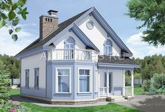 2 Storey House Design, House Front Design, Studio Type Apartment, Modern Bungalow House, Prefabricated Houses, Cottage Plan, Attic Design, Tuscan House, House Paint Exterior