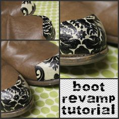 Great way to cute-up a pair of scuffed boots!
