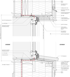 Windows and Doors « Cottonwood Passive House, wood frame head and sill details . Windows and Doors Window Detail, Door Detail, Construction Drawings, Wood Construction, Timber Windows, Windows And Doors, Wood Architecture, Architecture Details, Timber Structure