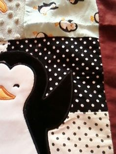 Fleece/cotton/flannel baby blanket by Seamsations on Etsy, $45.00
