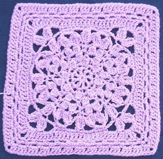 The Left Side of Crochet: Mum's The Word Crochet Granny Square Afghan, Crochet Square Patterns, Granny Squares, Crochet Blocks, Crochet Stitches Patterns, Crochet Motif, Crochet Flowers, Free Crochet, Big Granny