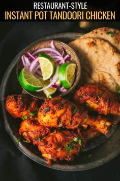 This Tandoori chicken recipe makes the most flavorful and authentic chicken that is crisp on the outside and succulent on the inside – just like it is supposed to be! The recipe includes both Instant Pot and oven version. via Anu Grilled Tandoori Chicken Recipe, Authentic Tandoori Chicken Recipe, Tandori Chicken, Tandoori Recipes, Indian Chicken Recipes, Italian Recipes, Mexican Food Recipes, Healthy Recipes, Ethnic Recipes